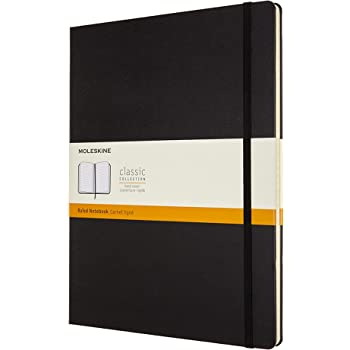 """Moleskine Classic Notebook, Hard Cover, XXL (8.5"""" x 11"""") Ruled/Lined, Black, 192 Pages"""