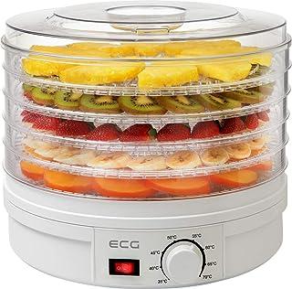 ECG SO 375 250 W för torkning av frukt, grönsaker, örter, kött och andra livsmedel, samt fem fack 32 cm, kontinuerlig temp...