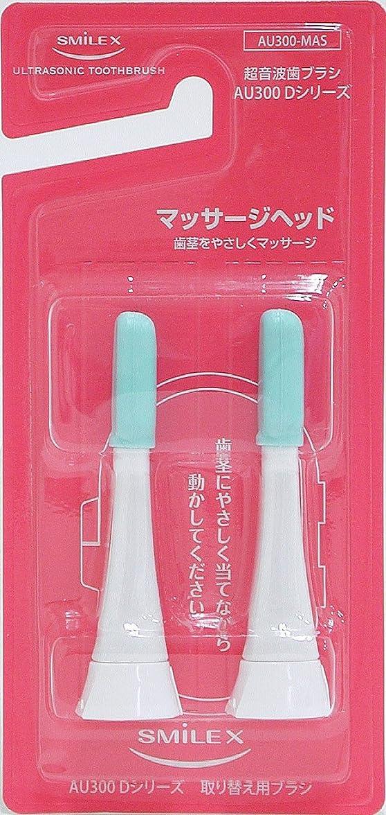 人に関する限り検証眠り1.6MHz超音波電動歯ブラシAU300D用 替え歯ブラシ(マッサージヘッド)
