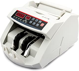 SToK Currency Counting Machine with UV/MG Counterfeit Notes Detection function and External Display (White, ST-MC01)