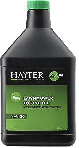 Hayter Genuine SAE30 4-cycle Lawnmower Engine Oil  Black  part number 111-9367