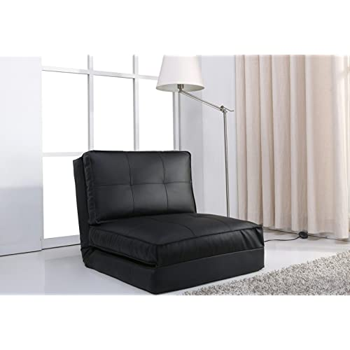 Artdeco fauteuil convertible chauffeuse convertible plusieurs couleurs (grand, noir)