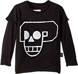 Skull Robot Patch T-Shirt (Toddler/Little Kids)