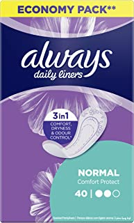 Always Daily Liners Comfort Protect, Normal, 40 Count
