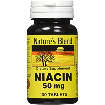 Nature's Blend Niacin 50 Milligram 100 Tabs