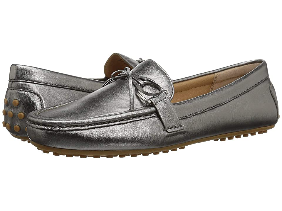 LAUREN Ralph Lauren Briley Moccasin Loafer (Gunmetal Metallic Leather) Women