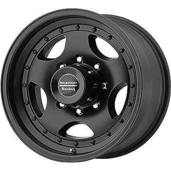 16x10//8x165.1mm, -25mm offset American Racing AR172 Baja Satin Black Wheel