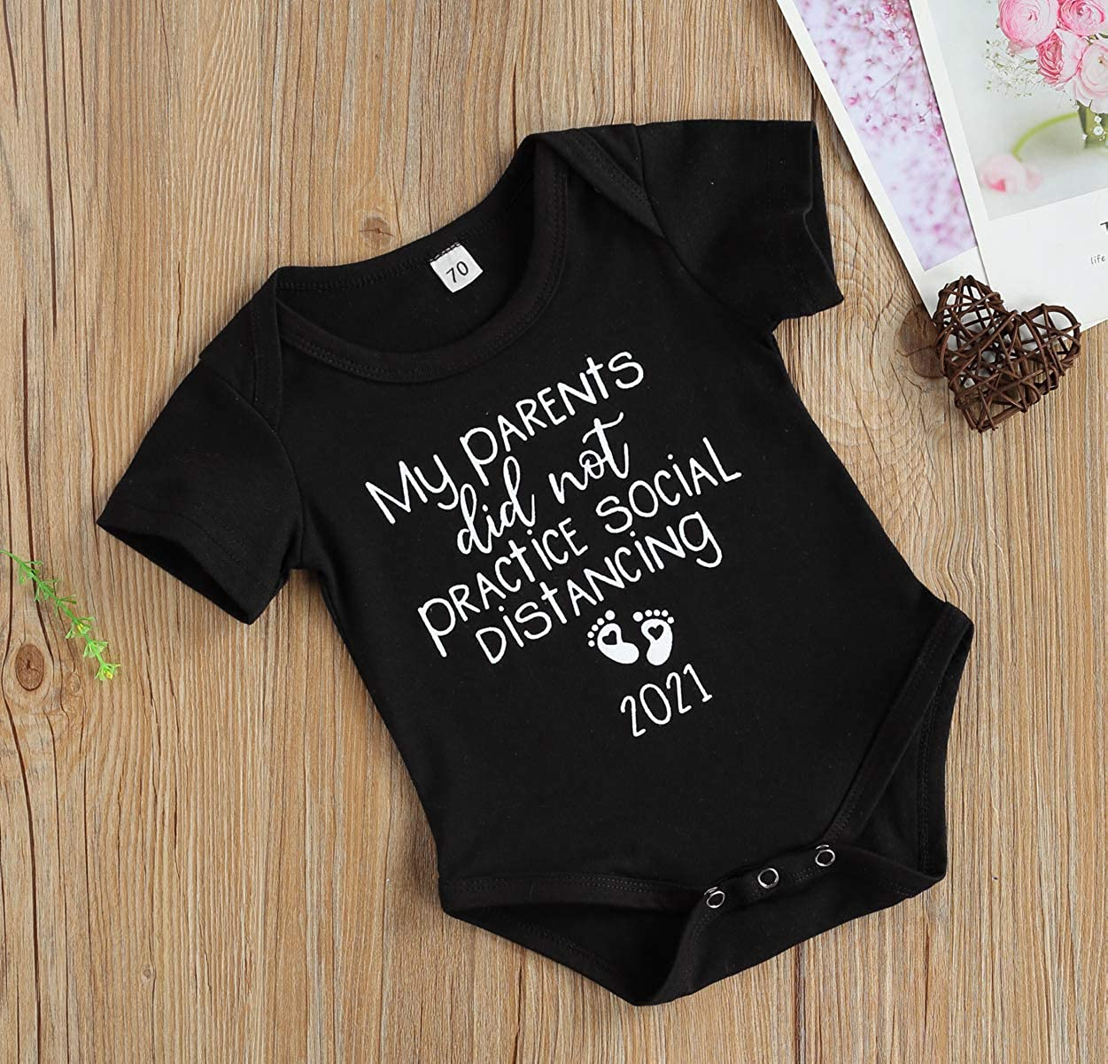 My Parents Did Not Practice Social Distancing Funny Newborn Baby Boy Girls Clothes Cotton Bodysuit