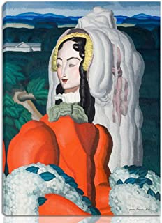 Berkin Arts Jean Dupas Stretched Giclee Print On Canvas-Famous Paintings Fine Art Poster-Reproduction Wall Decor(Woman in Red) #NK