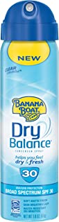 Banana Boat Sunscreen Dry Balance Broad Spectrum Sunscreen Spray, TSA Approved Size, SPF 30, 1.8 Ounce