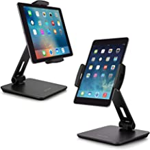 AboveTEK Business Kiosk Aluminum Tablet Stand, 360° Swivel Tablet & Phone Holders for Any 4-14