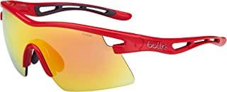 Bolle Vortex Sunglasses, Red Frame, Fire Lens