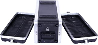 """Crossrock Stackable 4U Rack Case, Strong Molded with Heavy Duty Hardware, Shallow 14.25"""" Depth(CRA8604US)"""