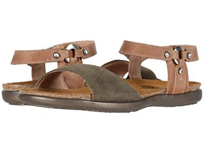 Naot Sabrina (Oily Olive Suede/Latte Brown Leather) Women