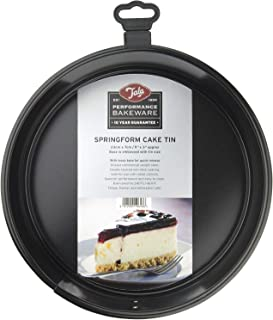 Performance, 23cm Springform Round Cake Tin, Professional Gauge Carbon Steel with Whitford Eclipse Non-Stick Coating, Loos...
