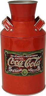 The Tin Box Company Coke Replica Milk Can, Red, 4-1/4 x 8