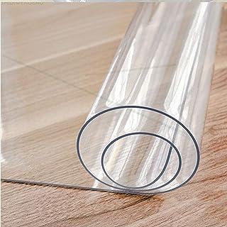 HHUU Tydlig PVC bordsskiva skydd transparent bordskudde, 1,5 mm tjock vattentät PVC-duk rektangulär bordsskydd matbord mju...