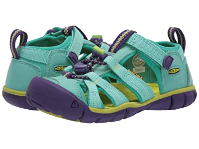 Keen Kids Seacamp II CNX (Toddler/Little Kid) (Cockatoo/Royal Purple) Girls Shoes