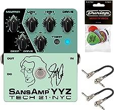 Tech 21 YYZ Geddy Lee Signature SansAmp YYZ Pedal Bundle with 2 MXR Patch Cables and Dunlop Pick Pack