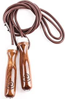 Jump Rope - Premium Jump Rope Golden Stallion for Genuine Jump Rope Workout Experience - Gain More Energy and Get Better Body Shape with Weighted Jump Rope - Wooden Handles - Adjustable Leather Jump Rope Ball Bearings - Ideal As a Crossfit Jump Rope - Maximalize Your Jump Rope Workout Now!