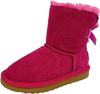OOG Generation Kids Classic Snow Boot Bowknot Bont gevoerd Tall Winter Laarzen Zwart Blauw Roze
