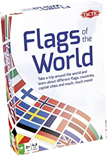 Tactic Games UK 02177 Tactic Flags of The World, Mixed