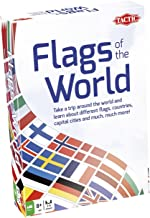 Tactic Games US Flags of The World Family Card Game - Educational & Fun - Play & Learn About Flags, Nations & Geography