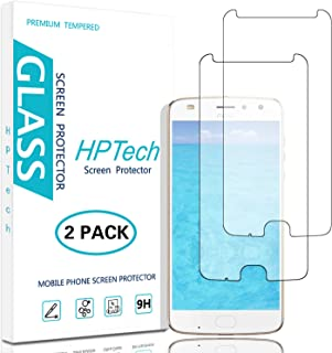 HPTech Moto Z2 Play Screen Protector - [2-Pack] Tempered Glass Film for Motorola Moto Z2 Play, Easy to Install with Lifetime Replacement Warranty