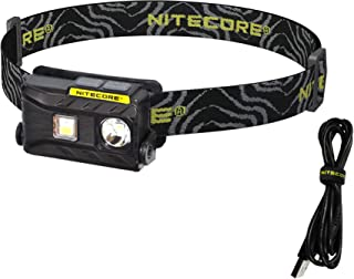 Nitecore NU25 360 Lumen Triple Output - White, Red, High CRI - 0.99 Ounce Lightweight USB Rechargeable Headlamp with Lumen...