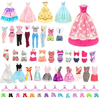 BARWA 36 Pack Doll Clothes and Accessories 5 PCS Fashion Dresses 5 Tops 5 Pants Outfits 3 PCS...