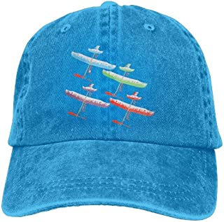 Adult Flying up Airplane Vintage Jeans Baseball Cap