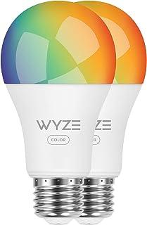 Wyze Labs WLPA19C2PK Smart Wyze Bulb, 2-Pack, Color