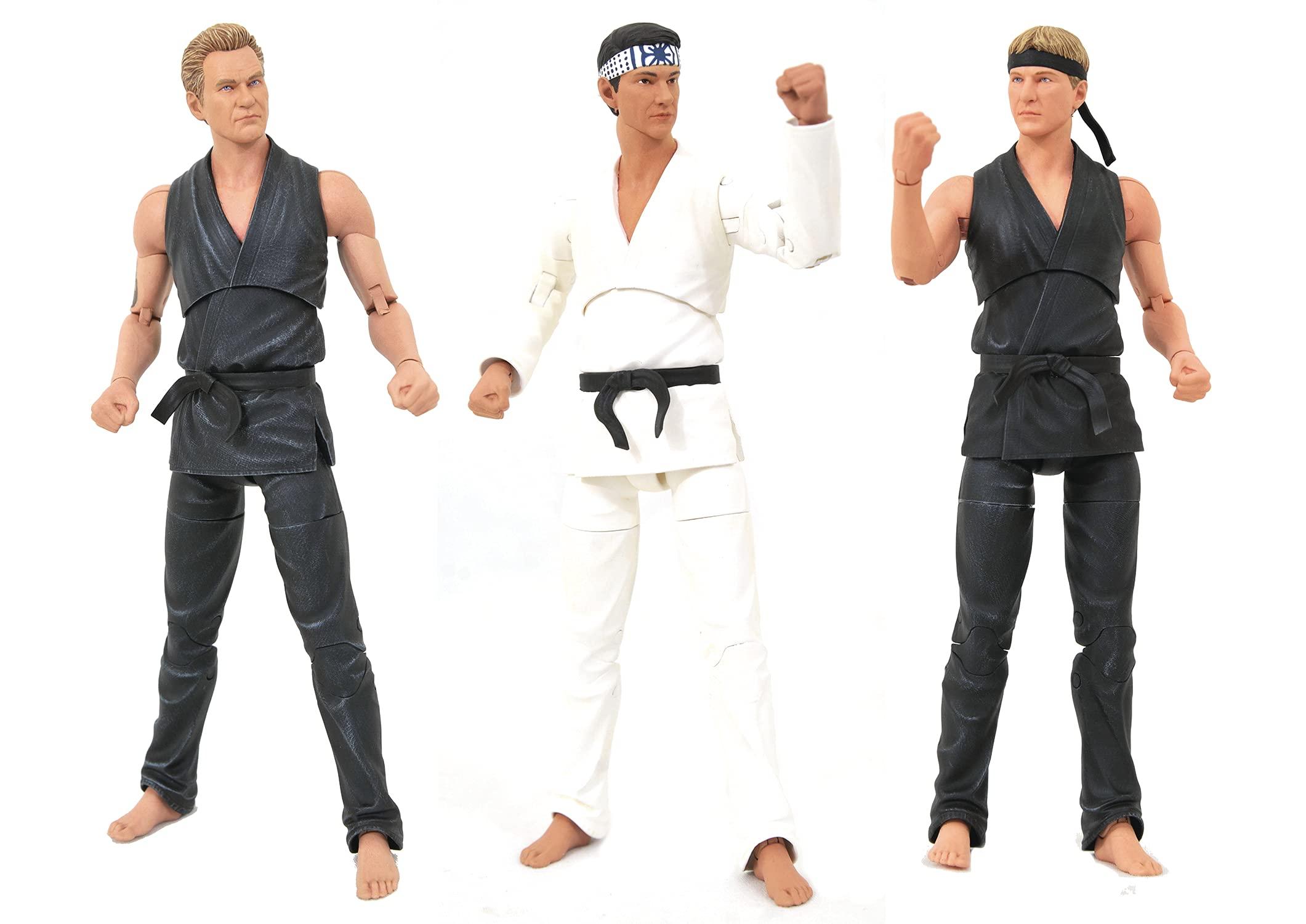 DIAMOND SELECT TOYS San Diego Comic-Con 2021 Exclusive Cobra Kai Deluxe Action Figure Box Set, Multicolor