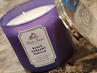 White Barn Bath and Body Works Black Currant Vanilla 3-Wick Scented Candle 14.5oz