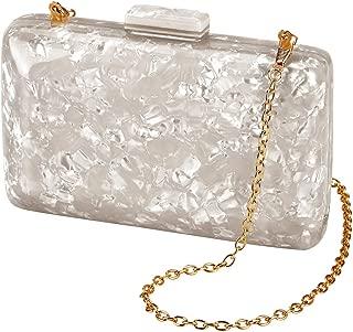 Women's Evening Handbag box clutch Acrylic Stripes Shoulder Bag for Party Champagne Evening Bag