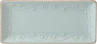 Lenox French Perle Rectangular Tray, Ice Blue