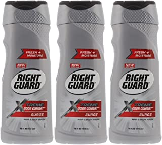 Right Guard Xtreme Odor Combat, Surge, Hair and Body Wash, 16 Fl Oz (Pack of 3)