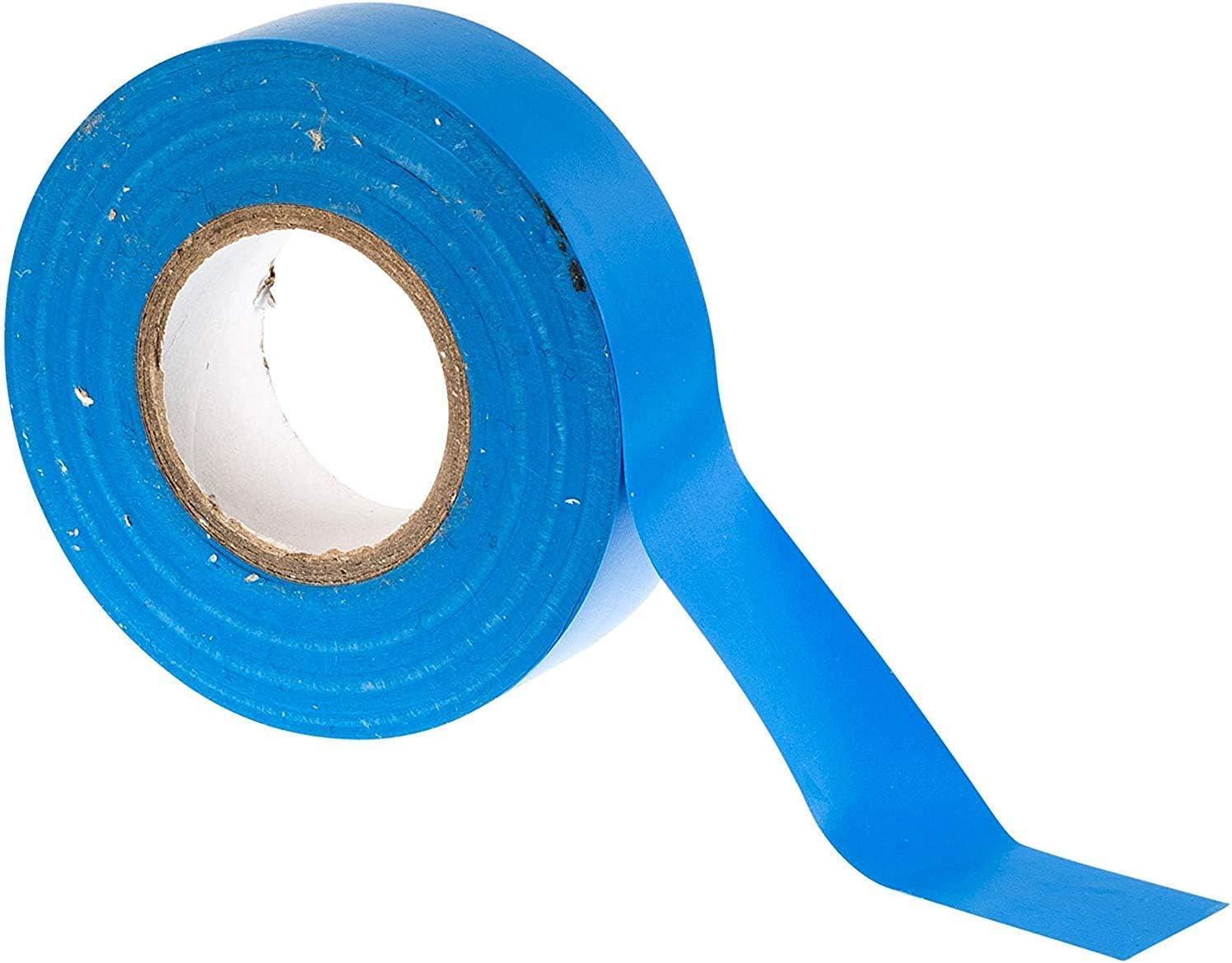 GTSE 10 rotoli di nastro isolante elettrico in PVC blu confezione da 10 rotoli 20 m x 19 mm