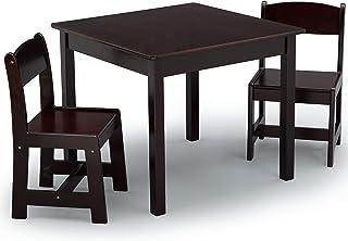 مجموعة الطاولة والكراسي الخشبية ماي سايز للاطفال من دلتا تشيلدرن (تتضمن كرسيين)، بني داكن