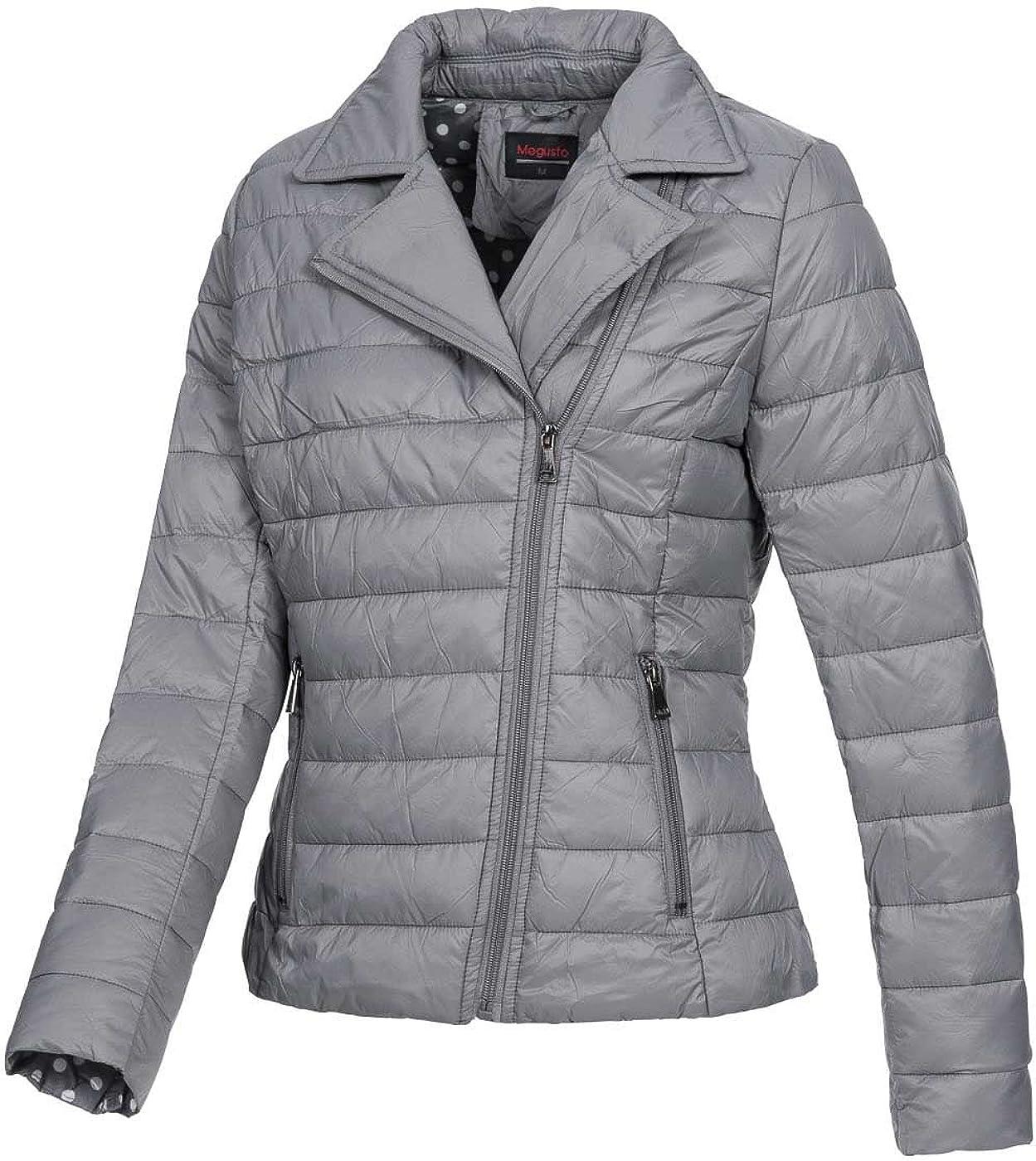 dunkelgrau 69/% OFF Violet fashion Damen Nylon Jacke IV101 Bikerjacken Stil