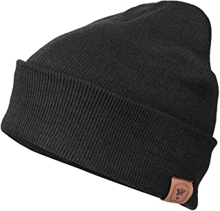 OZERO Winter Daily Beanie Stocking Hat - Warm Polar Fleece Skull Cap for Men and Women Purple/Gray/Black