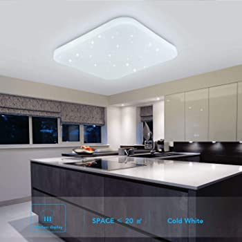 Onforu 24W LED Lámpara de Techo Cocina, CRI 90+ IP65 Impermeable ...