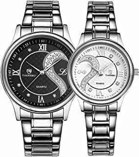 Valentine's Romantic His and Hers Quartz Analog Wrist Watches Gifts Set for Lovers Set of 2