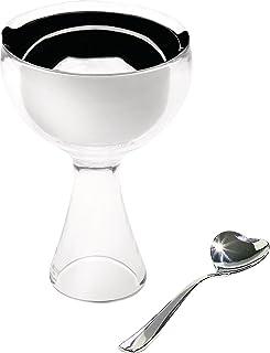 A di Alessi Big Love 冰淇淋碗和勺子,蓝色(AMMI01S AZ) 透明 AMMI01S I