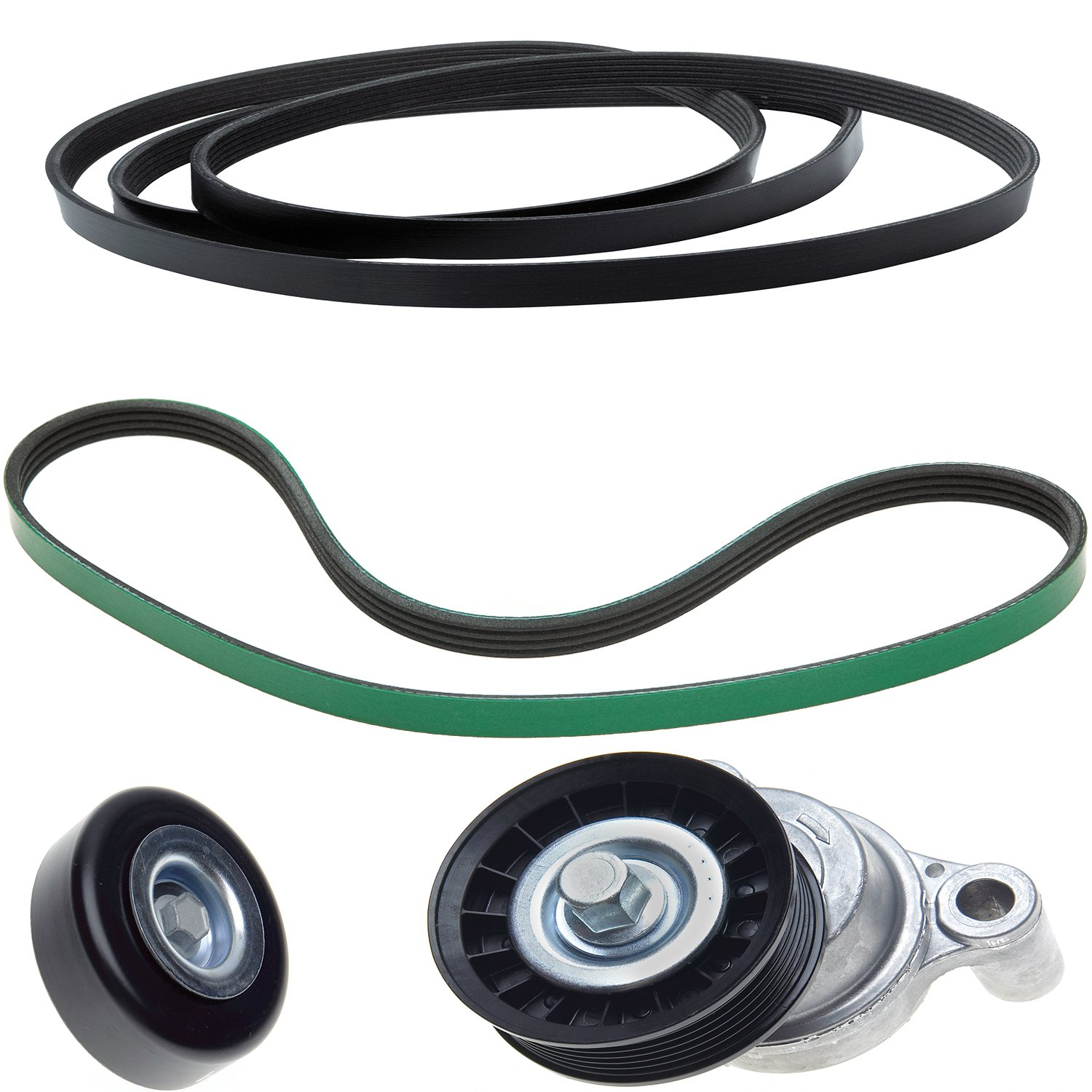and Belt ACDelco ACK061031 Professional Automatic Belt Tensioner and Pulley Kit with Tensioner Pulleys