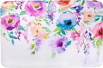 "LIVILAN Soft Memory Foam Non Slip Bath Mat 16"" x 24"" (Purple)"