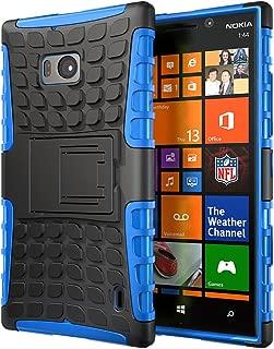 Hyperion Nokia Lumia Icon 929 Windows Phone Explorer Hybrid Case (Compatible with Verizon Nokia Lumia Icon 929) **2 Year No Hassle Warranty** [Hyperion Retail Packaging] (BLUE)