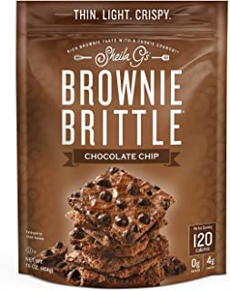 Brownie Brittle, Chocolate Chip, 16 Oz Bag, The Unbelievably Rich and Delicious Chocolate Brownie Snack with A Cookie Crunch (Packaging May Vary)