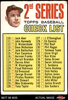 """1967 Topps # 103 Checklist 2 Mickey Mantle New York Yankees (Baseball Card) (Period after""""D"""" in #170 May or May Not be Faint Vertical Line) Dean`s Cards 1.5 - FAIR Yankees"""