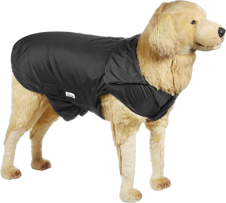 Hi Kiss Dog Coat Jacket Padded Vest Ski Suit Large Dogs in Cold WeatherBlack XL